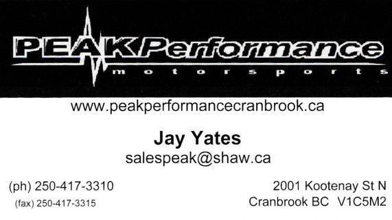 Peak Performance Motorsports BC
