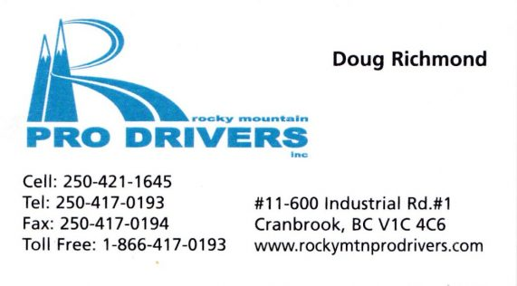 pro drivers business card